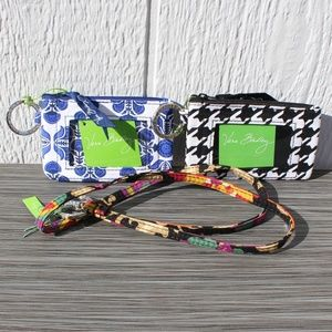 Vera Bradley Zip ID Case & Lanyard Set of 3